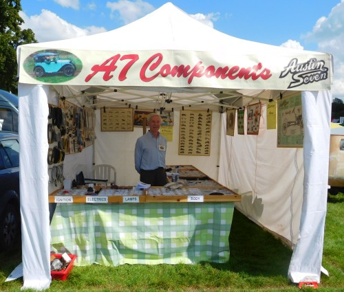 A7 Components stand at the Beaulieu Autojumble